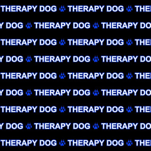 Basic Therapy dog text - blue