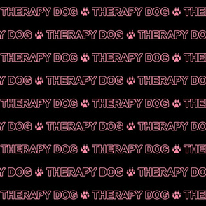 Basic Therapy dog text - pink