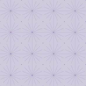 Nineteen Sixty Starburst: Violet Purple Geometric Pattern