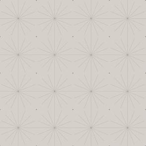 Nineteen Sixty Starburst: Warm Gray Geometric Pattern