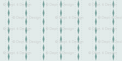 Queen of Diamonds Stripe: Watery Blue Green Stripes