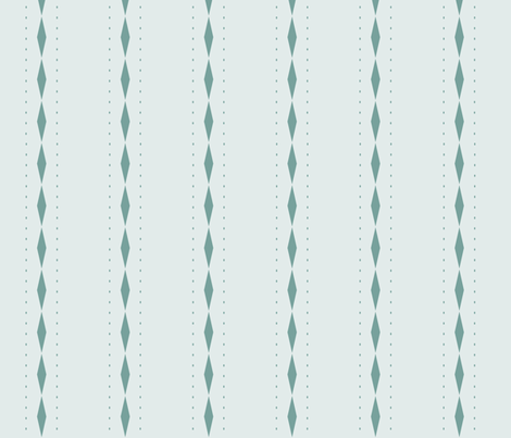Queen of Diamonds Stripe: Watery Blue Green Stripes fabric by dept_6 on Spoonflower - custom fabric