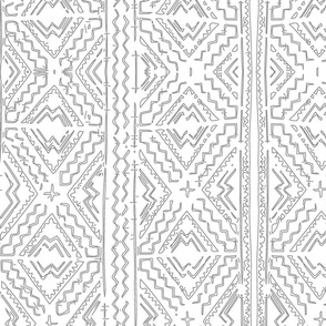 Medium grey mudcloth gray mudcloth mud cloth african mudcloth tribal-ch