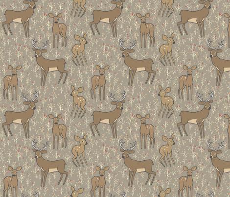 Cerbiattoli  fabric by potyautas on Spoonflower - custom fabric