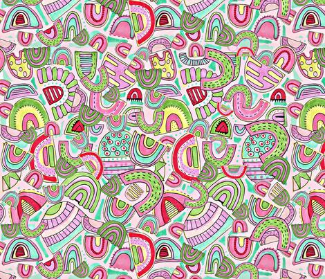Jelly Half Circles fabric by slumbermonkey on Spoonflower - custom fabric