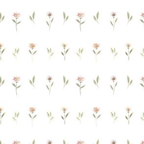 Zinnias & Leaves