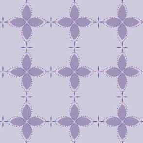 Bobby Jo: Violet Floral Bandana Pattern, PurpleGeometric Floral