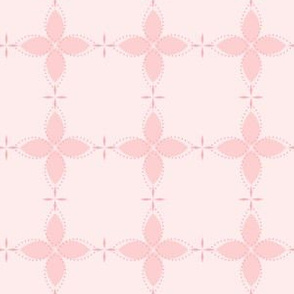 Bobby Jo: Millennial Pink Floral Bandana Pattern, Pink Geometric Floral