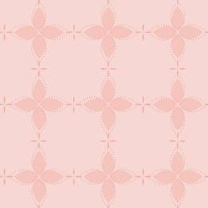 Bobby Jo: Rose Gold Floral Bandana Pattern, Geometric Floral