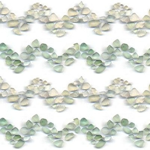 Sea glass - Chevron stripe