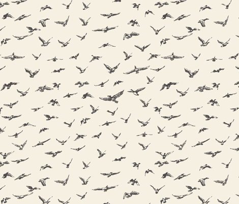 FLOCK OF SCRIBBLES  fabric by gasponce on Spoonflower - custom fabric