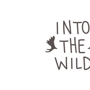 Into the Wild - Pillow Panel - White