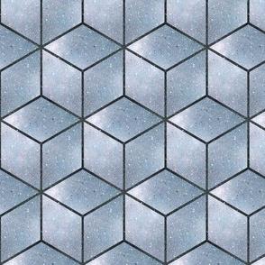 silver 3d cubes