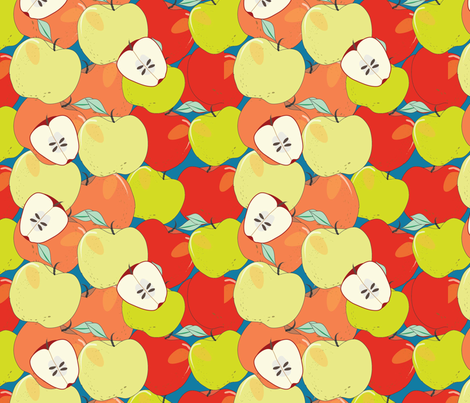 An Apple A Day fabric by cathleenbronsky on Spoonflower - custom fabric