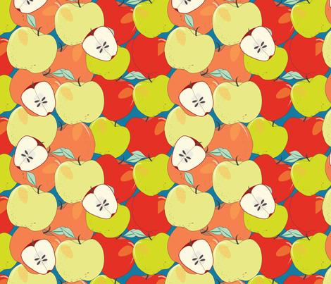 An Apple A Day fabric by cathleenbronsky on Spoonflower - custom fabric
