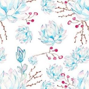 amazing watercolor succulents pattern
