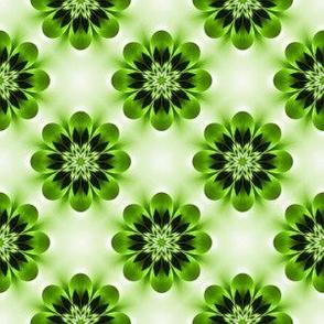 green vintage floral pattern