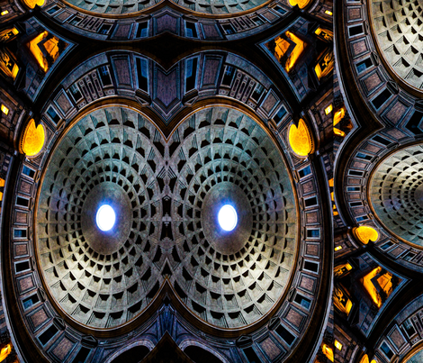 Pantheon Collage fabric by m_salisbury_artworks on Spoonflower - custom fabric