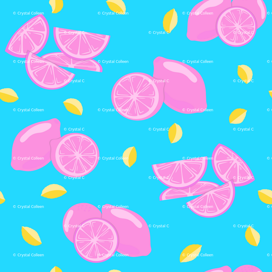 Pop Art Lemon Liberty wallpaper - crystal_whitlow - Spoonflower