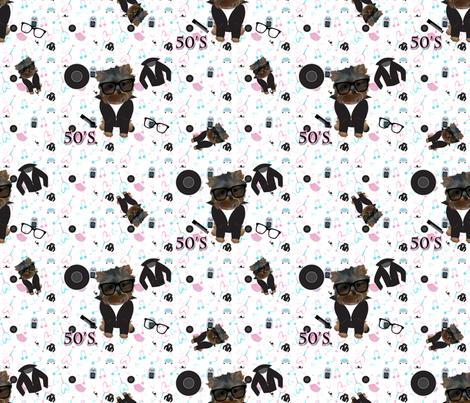"50's Rock'n Jamboree CYL BOY abt.3"" fabric by sherry-savannah on Spoonflower - custom fabric"