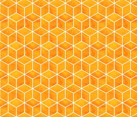 orange cubes fabric by krinichnaya on Spoonflower - custom fabric