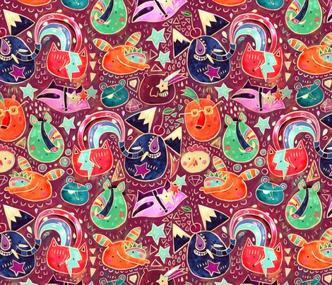 Glam Dudes in plum fabric by monika_suska on Spoonflower - custom fabric