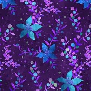 Festive blue florals