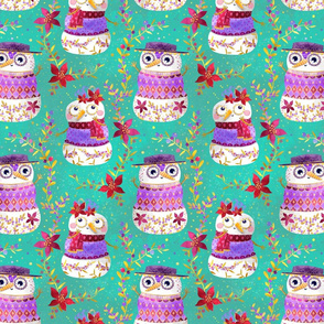Snowman pattern mint
