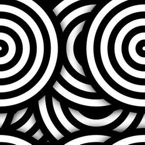 Op Art BW Circles