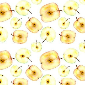 Apples pattern || watercolor