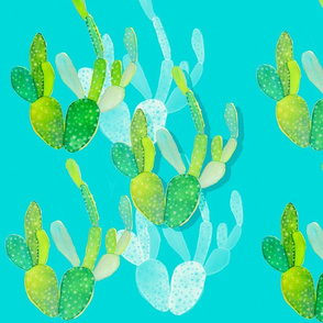 Watercolor Cacti 1