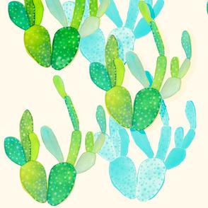 Watercolor Cacti 2