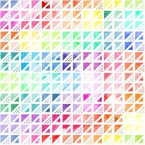 Rainbow Triangles & Dots #1