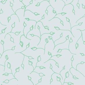 little green leaves on grey