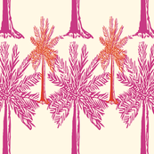 Palm Trees in magenta and orange