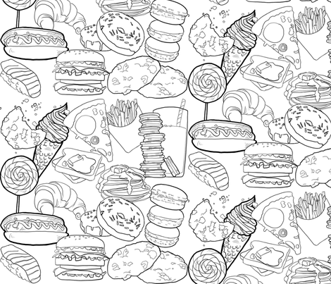 Food Frenzy Lake fabric by fanny-bonenfant on Spoonflower - custom fabric