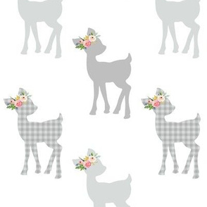 Gray Fawn – Baby Deer Girls Nursery Home Decor