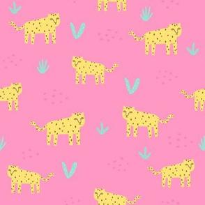 Jaguars on pink
