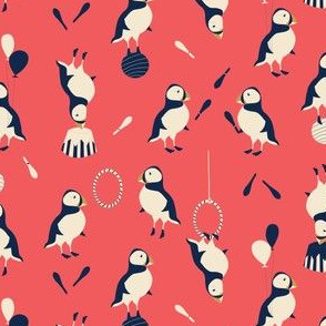 Circus of Puffins - Red