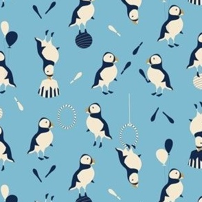 Circus of Puffins - blue
