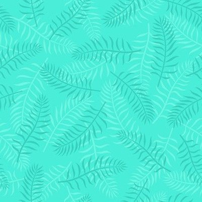 Bright palm leaves