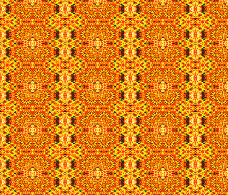 Fiery Clovers fabric by just_meewowy_design on Spoonflower - custom fabric