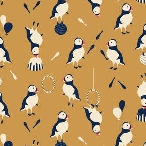 Circus of Puffins - gold