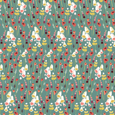 Field of Flowers fabric by sheri_mcculley on Spoonflower - custom fabric