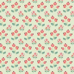 Berry Patch Coral and Mint