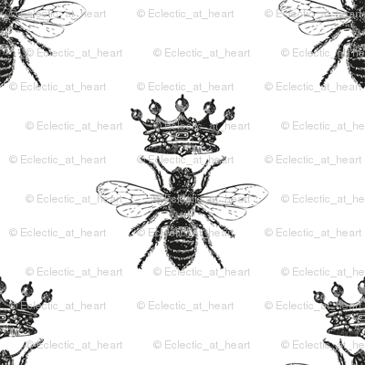 Queen Bee Pattern | Black and White