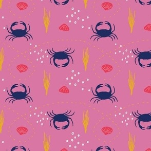 crab-scene in pink