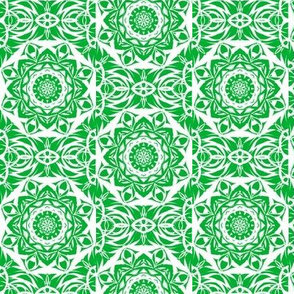 Green Filigree Lace