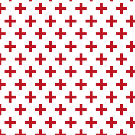 Crosses | Criss Cross | Plus Sign | X | Red and White fabric by eclectic_at_heart on Spoonflower - custom fabric