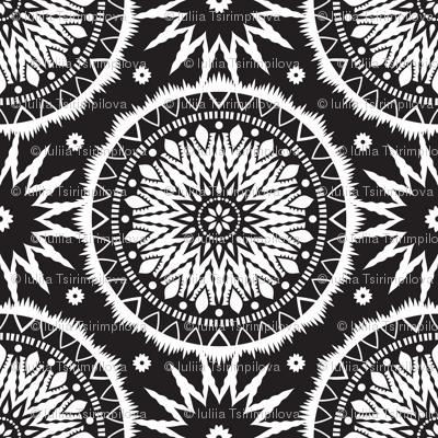 Black and white mandala pattern